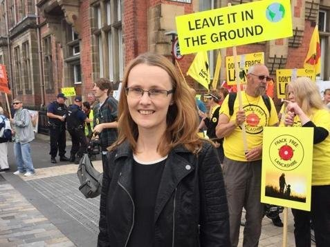 Ms Smith has supported the Frack Free Lancashire protest from the early days of the campaign.