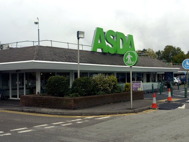 Police were called to the incident at Asda on Wednesday evening.