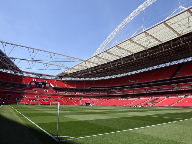 Wembley Stadium hosts Morecambe and Newport County AFC on Monday