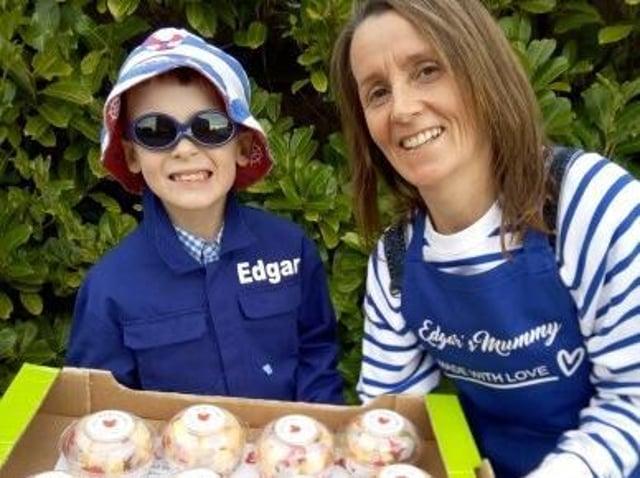 Edgar Johnson with mum Jane