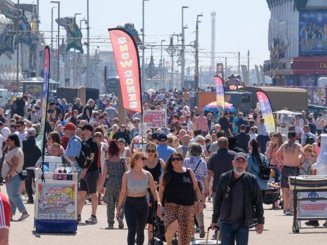 The scenes in Blackpool during May Bank Holiday weekend