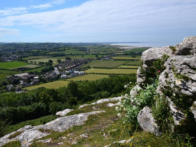 Warton Crag looking over the village towards Morecambe Bay on a glorious summer day taken by reader Graham Wilkinson, of Chipping