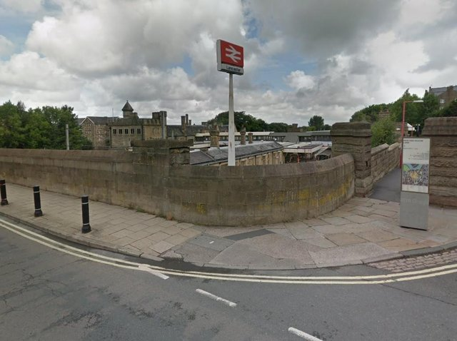 The man had got on the train at Lancaster station. Photo: Google Street View