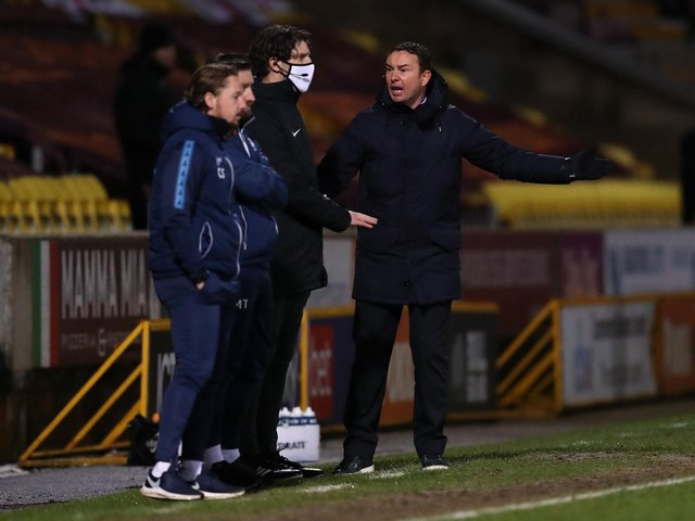 Manager Derek Adams has left Morecambe with Bradford City widely anticipated to be his next port of call