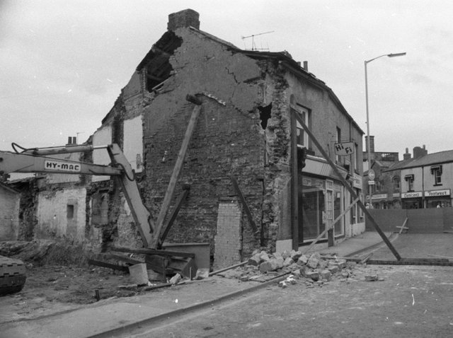 What remains of the building following the earth tremor which caused it to collapse
