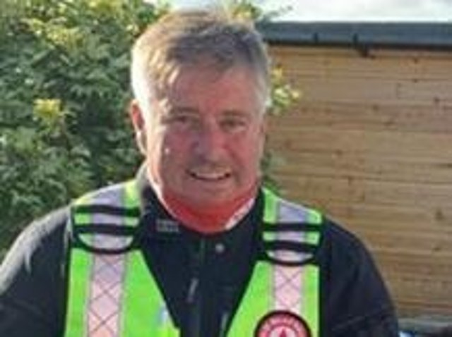 Mark Thomson, a volunteer for Northwest Blood Bikes.