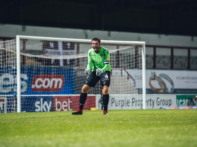 Alex Kenyon's Morecambe spell included a headline-grabbing performance in goal Picture: Nathan Briggs
