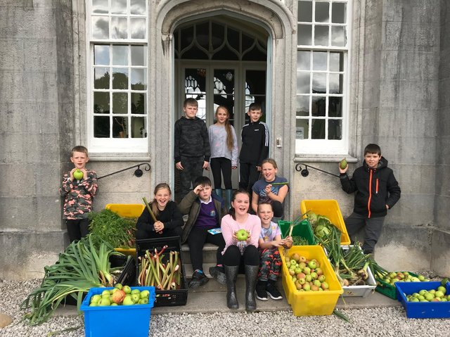Children at Leighton Hall taking part in Food For Thought.