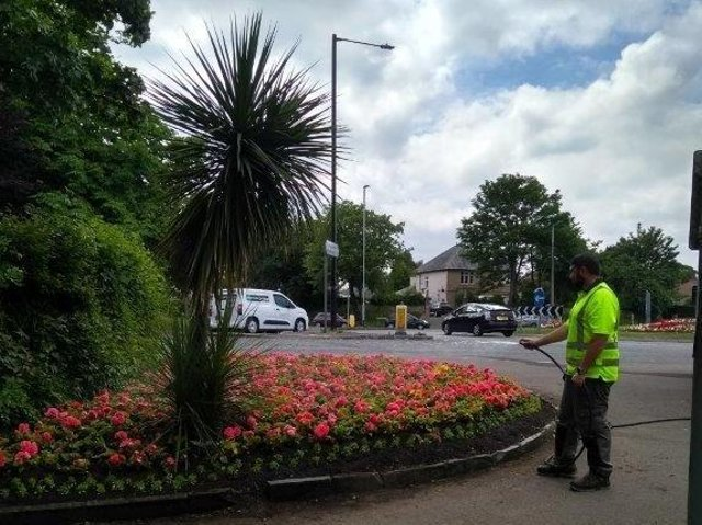 Council workers prepare the district for summer.