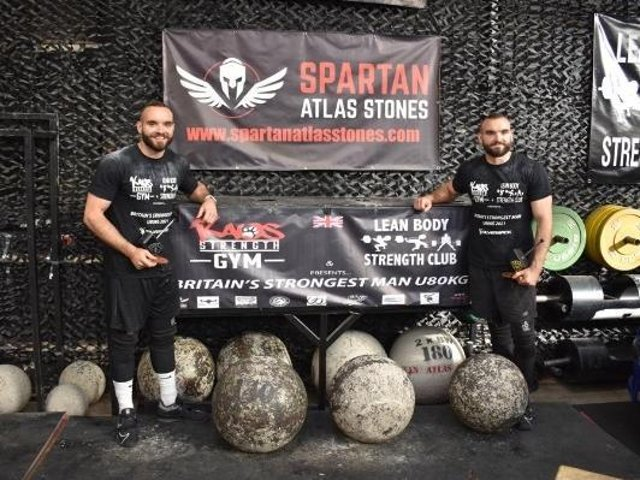 Joe, left, and Tim Daglish broke records to become Britain's Strongest Men Under 80kg.