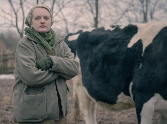 Elizabeth Moss stars as June Osborne in The Handmaid's Tale. Picture: Jasper Savage/Hulu
