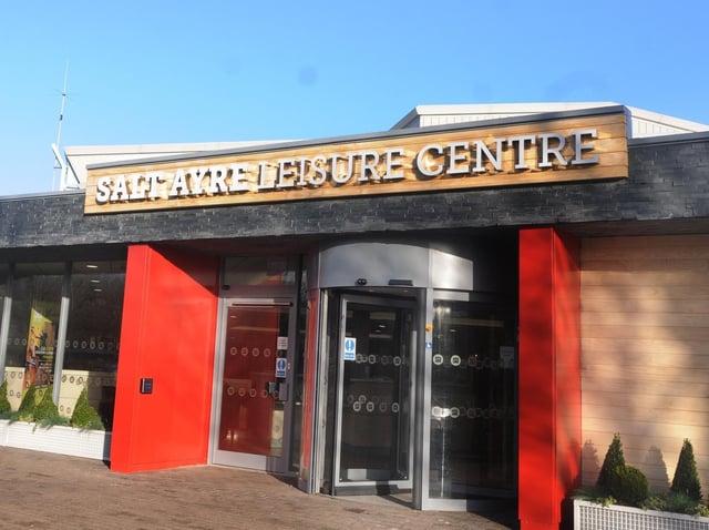Exterior of Salt Ayre leisure centre.