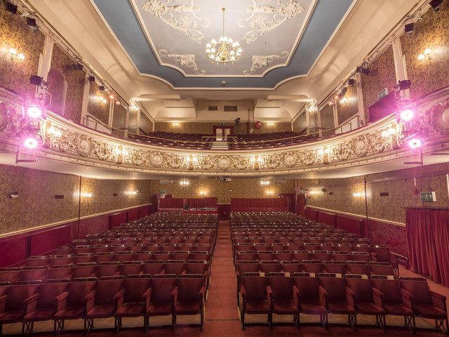 Lancaster Grand theatre, a view of the auditorium from the stage.