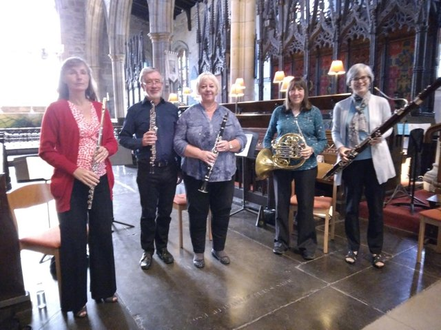 Players from Lancaster's Haffner Orchestra gave a live concert at Lancaster Priory.