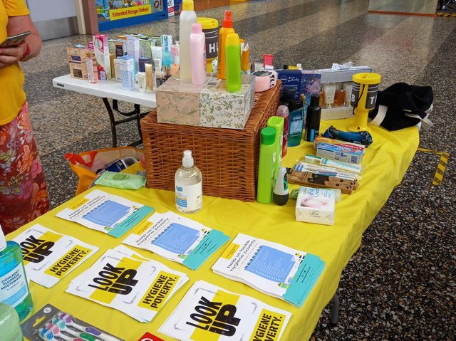 A selection of products which The Hygiene Bank collects to help people in need.