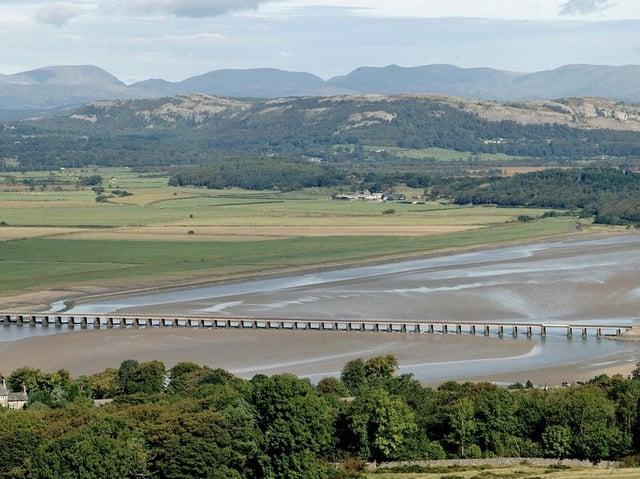 Kent Viaduct, Arnside on the Barrow to Lancaster railway line