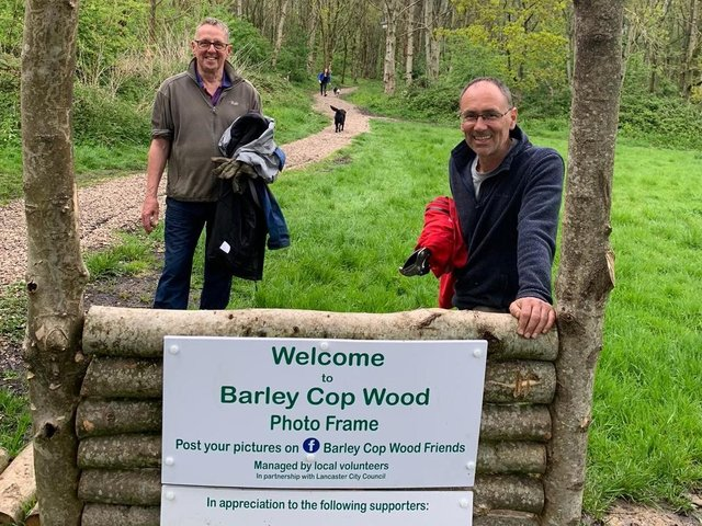 Barley Cop Wood, Lancaster, where Logs Direct has been helping to maintain the community woodland, as part of the company's corporate social responsibility activity. Credit: www.logsdirect.co.uk
