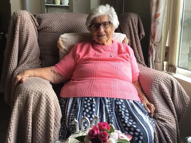 Doris Kirk is celebrating her 104th birthday today, Monday July 12.