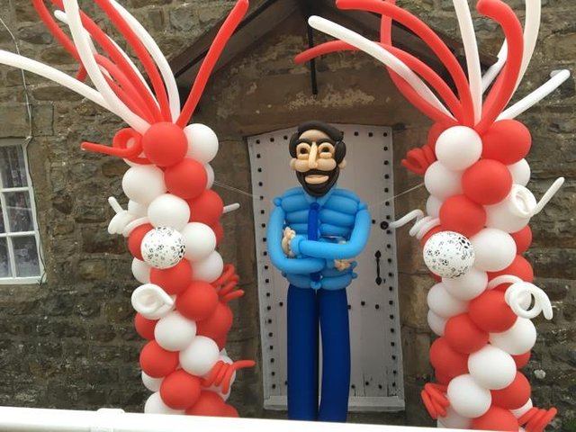 This pop up  baloon model tribute to Gareth Southgate appeared in Chipping at the weekend