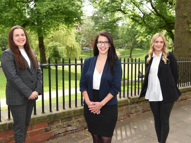 The three new additions to the team Jessica Woodman, Janka Ballo and Paulina Grysakowska