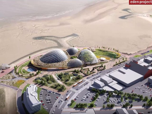 The latest architect's design of how Eden Project North will look. Photo: Eden Project International