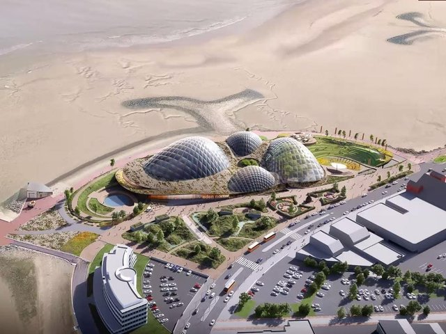 This image shows the latest designs by architects for Eden Project North. Photo by Eden Project International