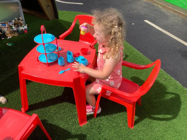 Youngsters enjoy the play area at Cawthorne's Endowed Primary School.
