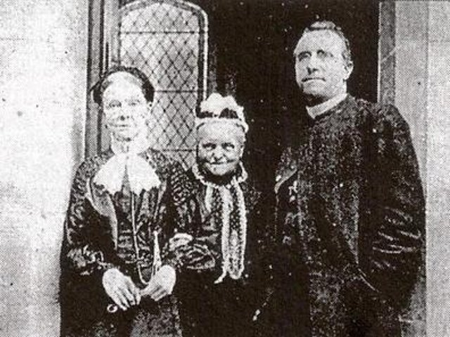 Margaret Coulston, centre, Mrs Smith and Fr Thomas Murphy pictured at St Joseph's Church.