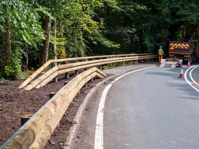 The timber-clad are being installed along the A683 in the north of Lancashire, including the Crook O' Lune, Hornby, and Greta Bridge near the village of Tunstall.